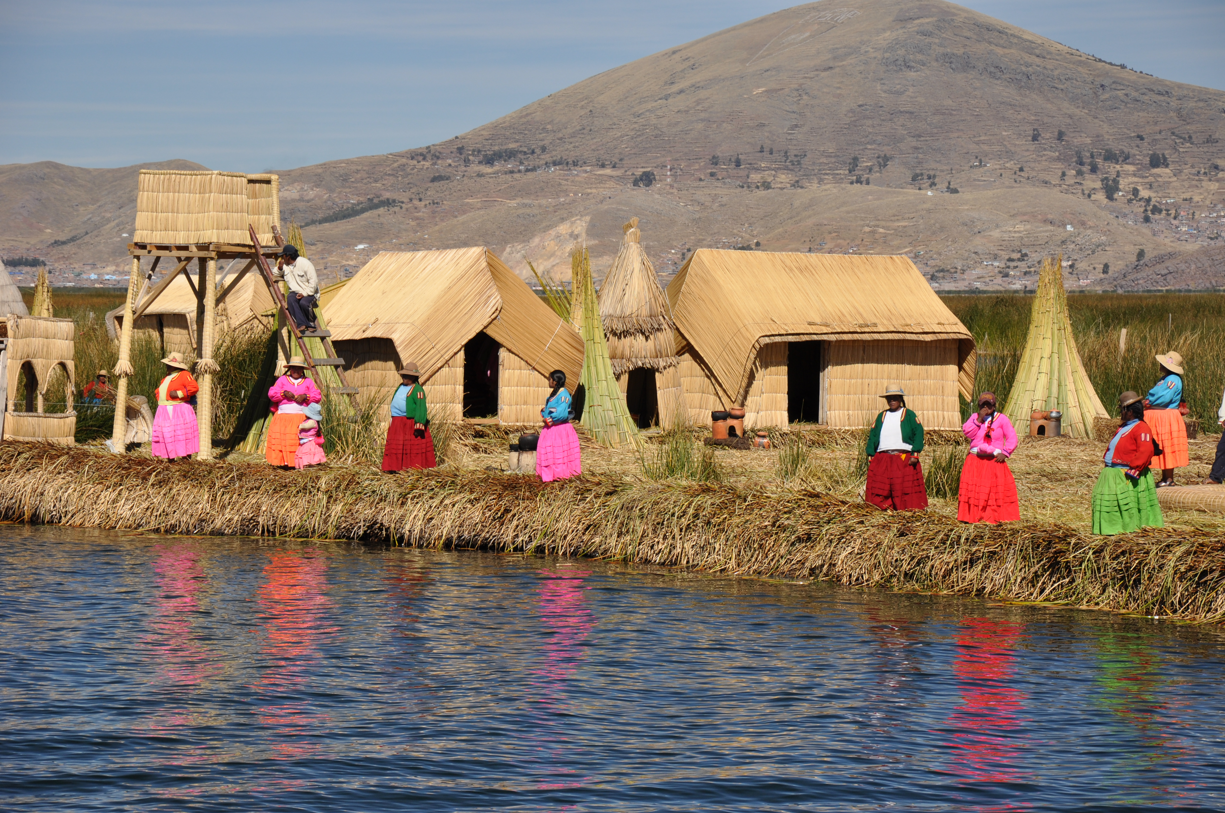 Floating Islands on Lake Titicaca